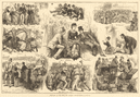 Sketches at the Eton & Harrow cricket-match. London 1880 antique ILN full page